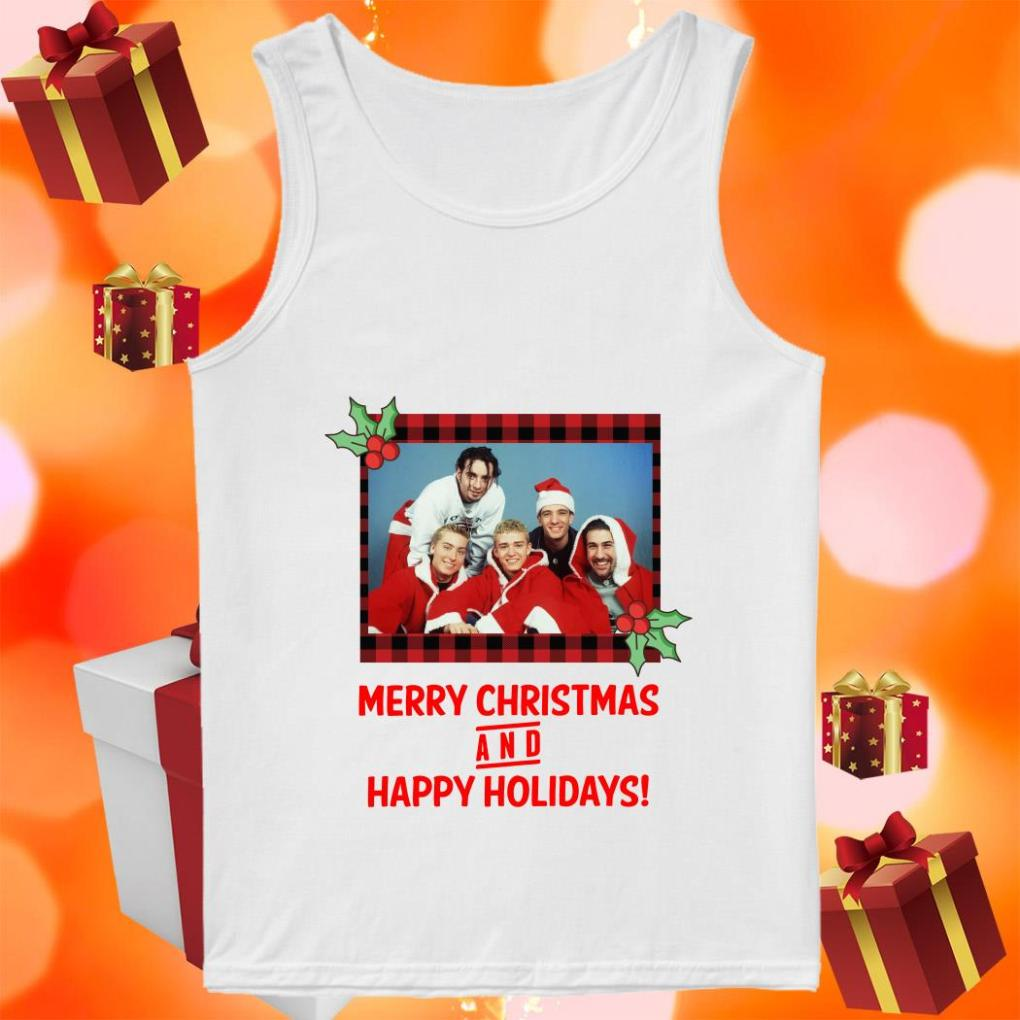 NSYNC Merry Christmas and Happy Holidays tank top
