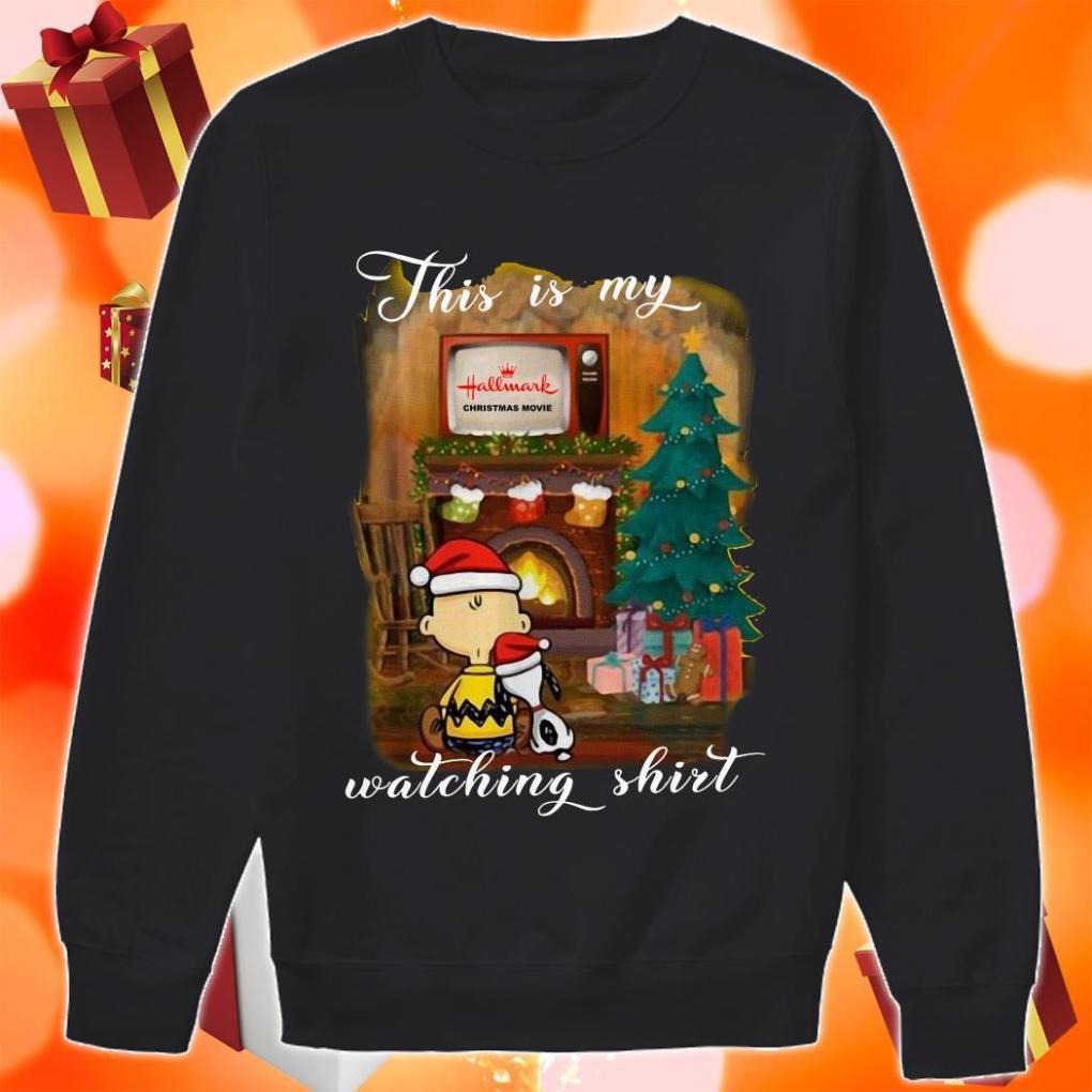 Peanut Snoopy This is my Hallmark Christmas movie watching sweater