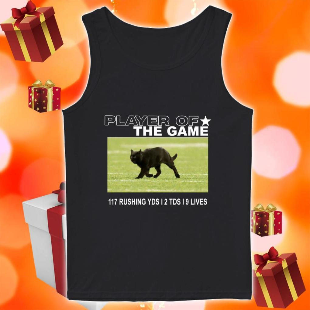 Player of the Game Black Cat Dallas Cowboys tank top