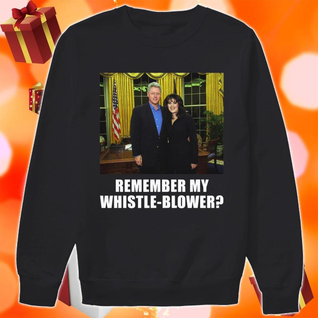 Remember my Whistleblower Monica Lewinsky and Bill Clinton sweater