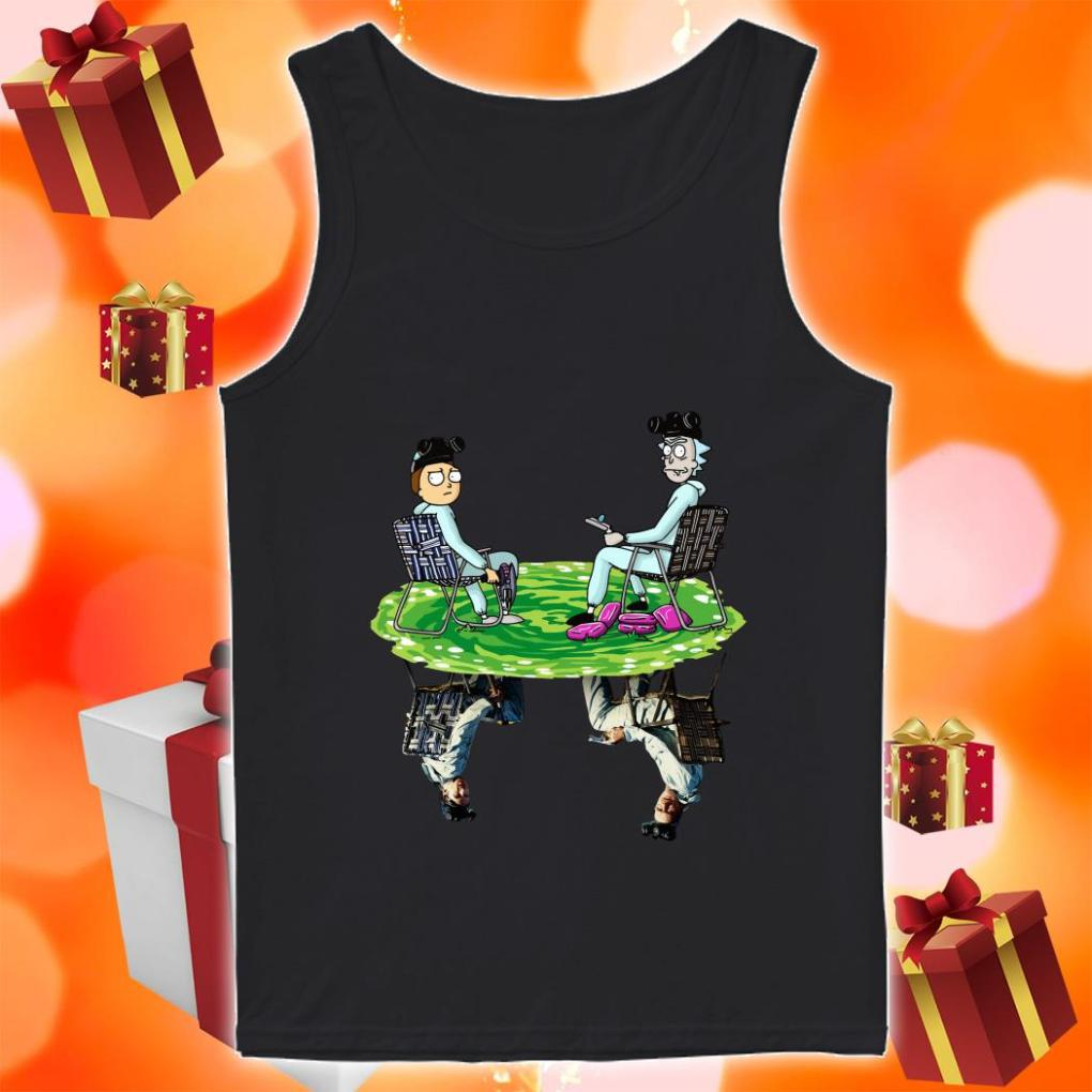 Rick and Morty reflection Breaking Bad tank top