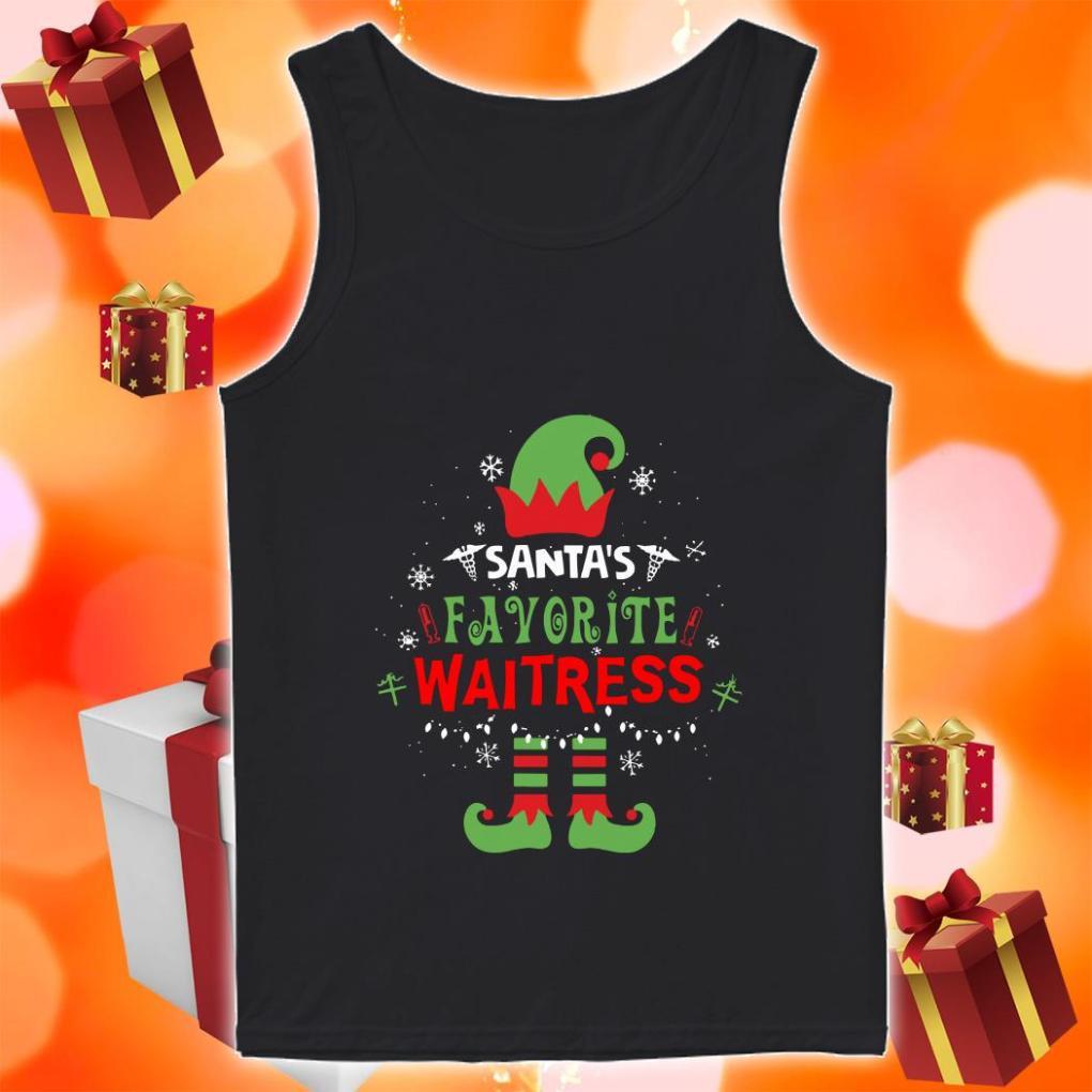 Santa's Favorite waitress ELF tank top