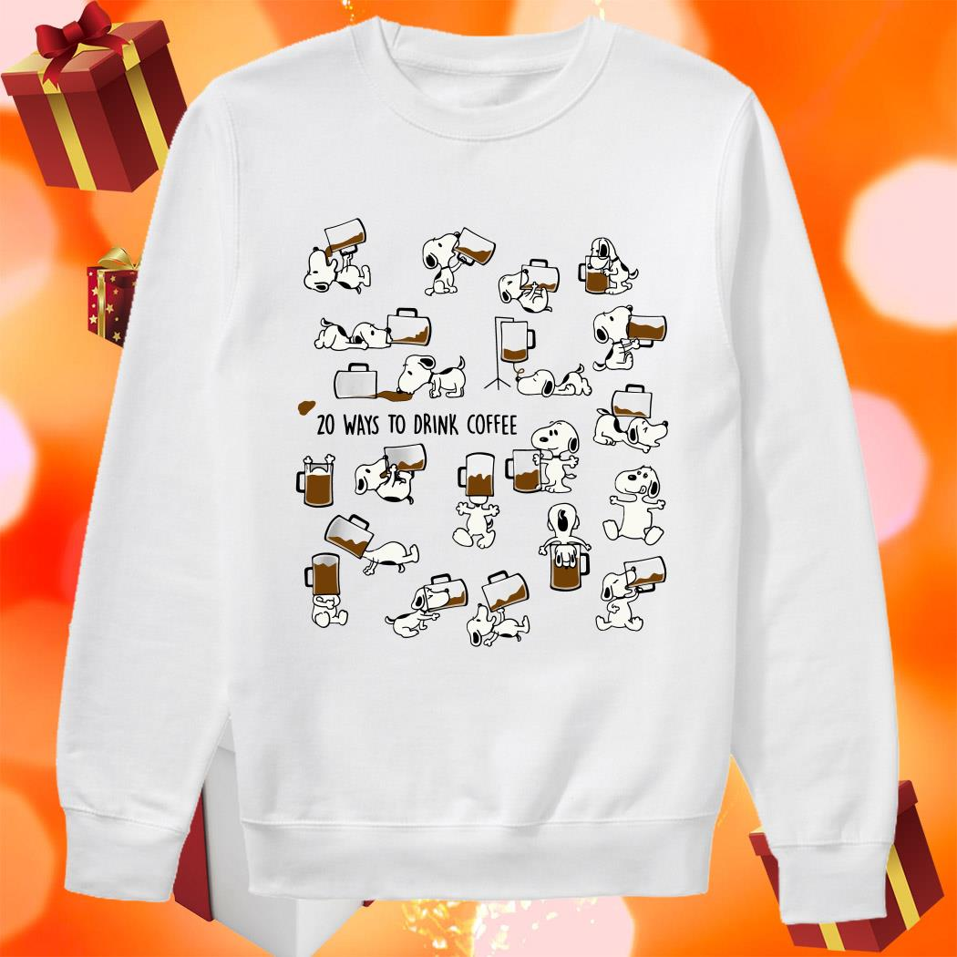 Snoopy 20 ways to drink Coffee sweater