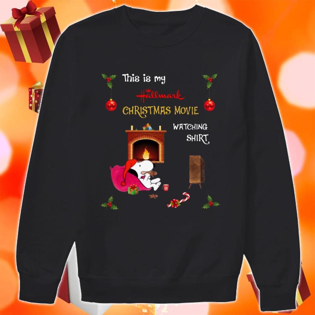 Snoopy this is my Hallmark Christmas movie watching sweater