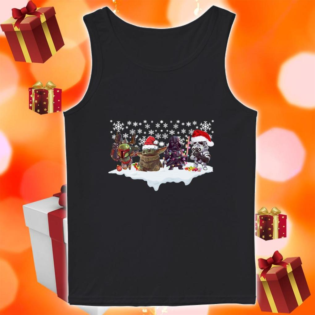 Star Wars Characters chibi Merry Christmas tank top