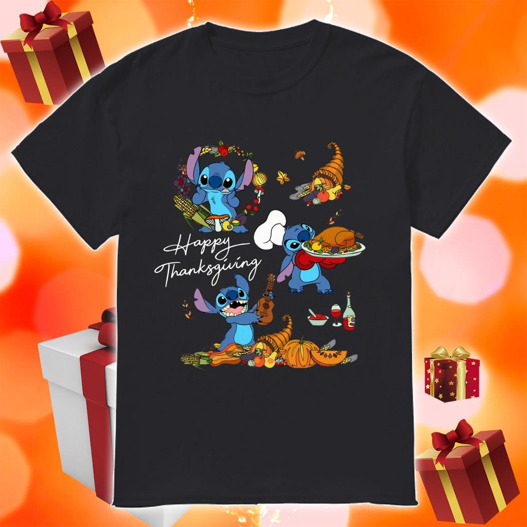 Stitch funny Happy Thanksgiving shirt