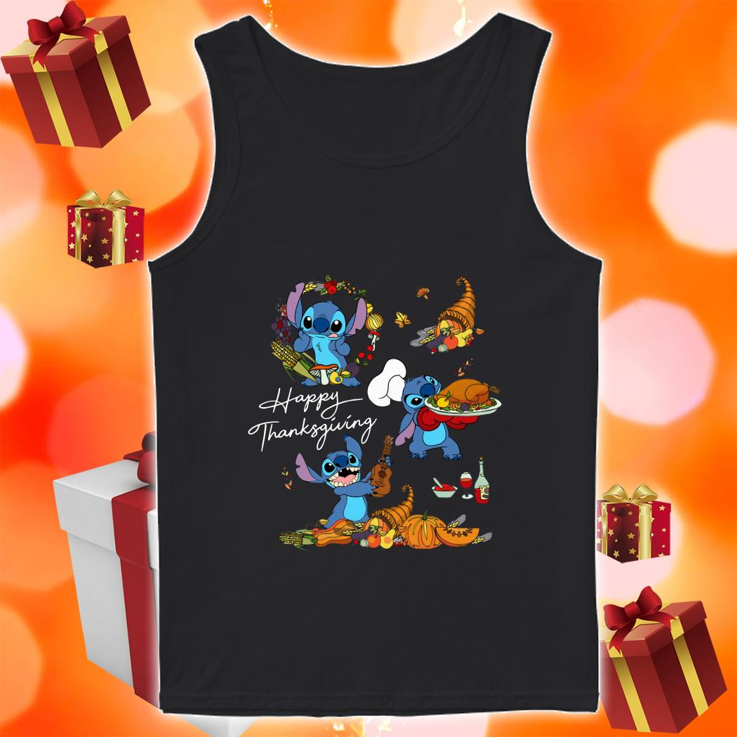 Stitch funny Happy Thanksgiving tank top