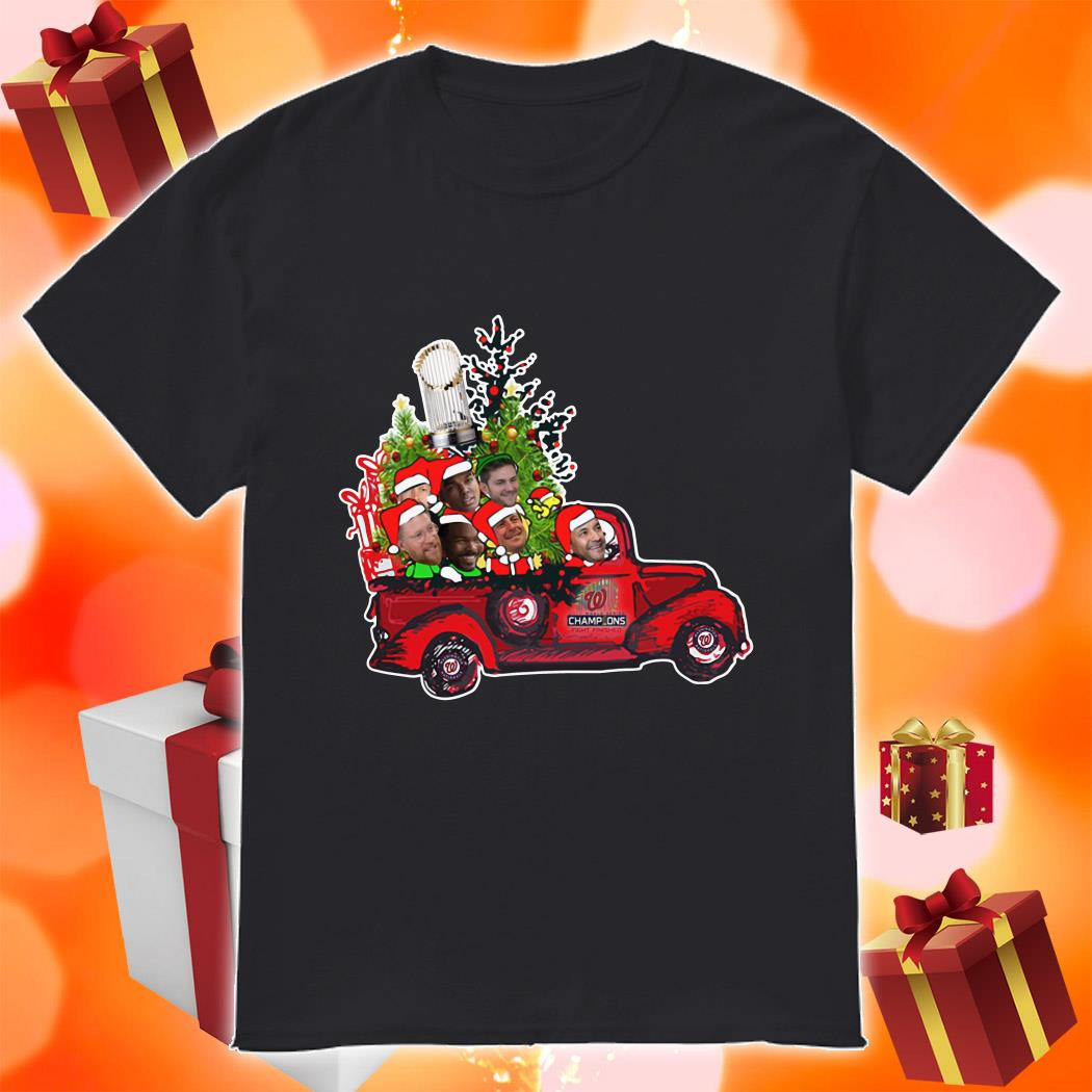 Washington Nationals Champions 2019 driving car Christmas shirt