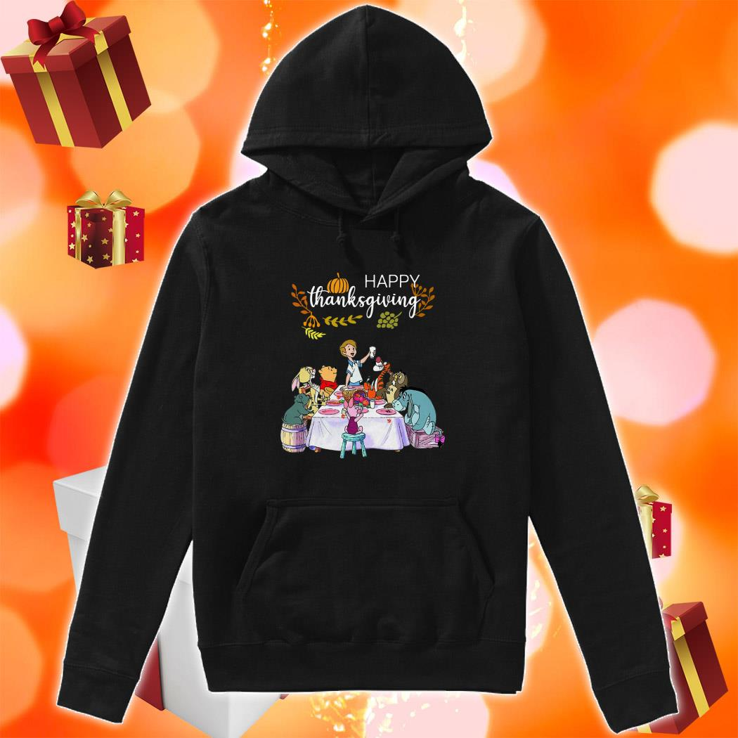 Winnie The Pooh Happy Thanksgiving hoodie