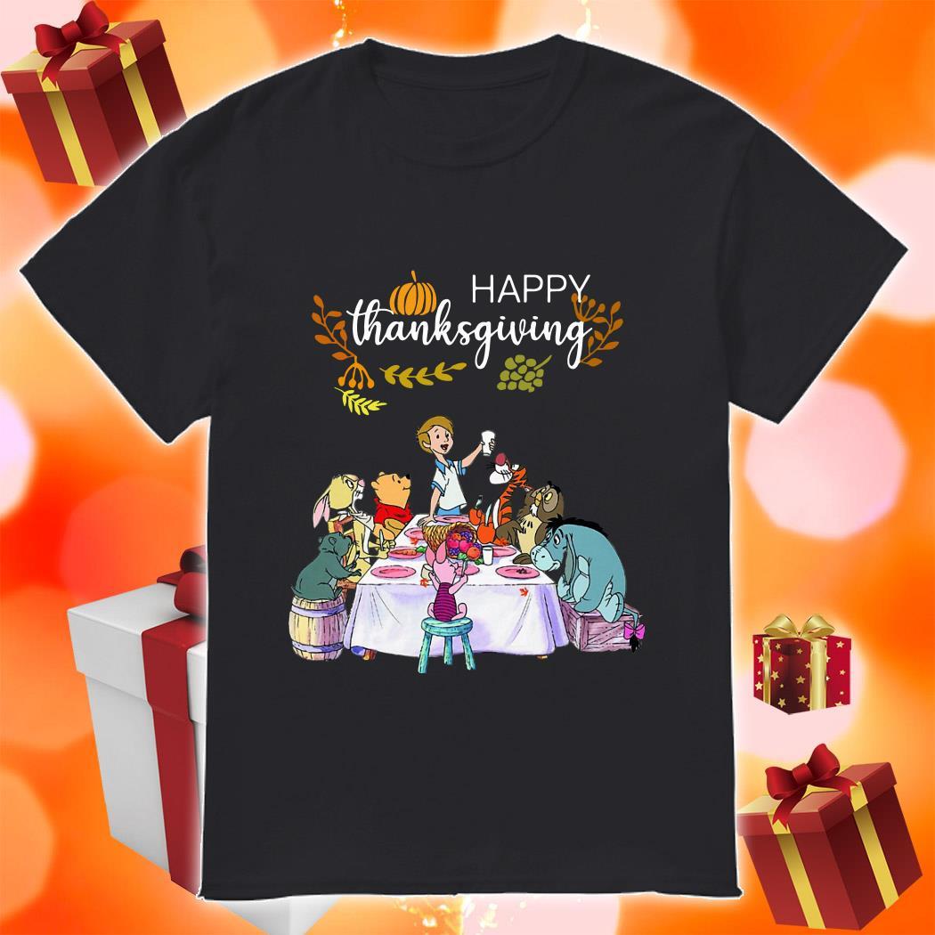 Winnie The Pooh Happy Thanksgiving shirt