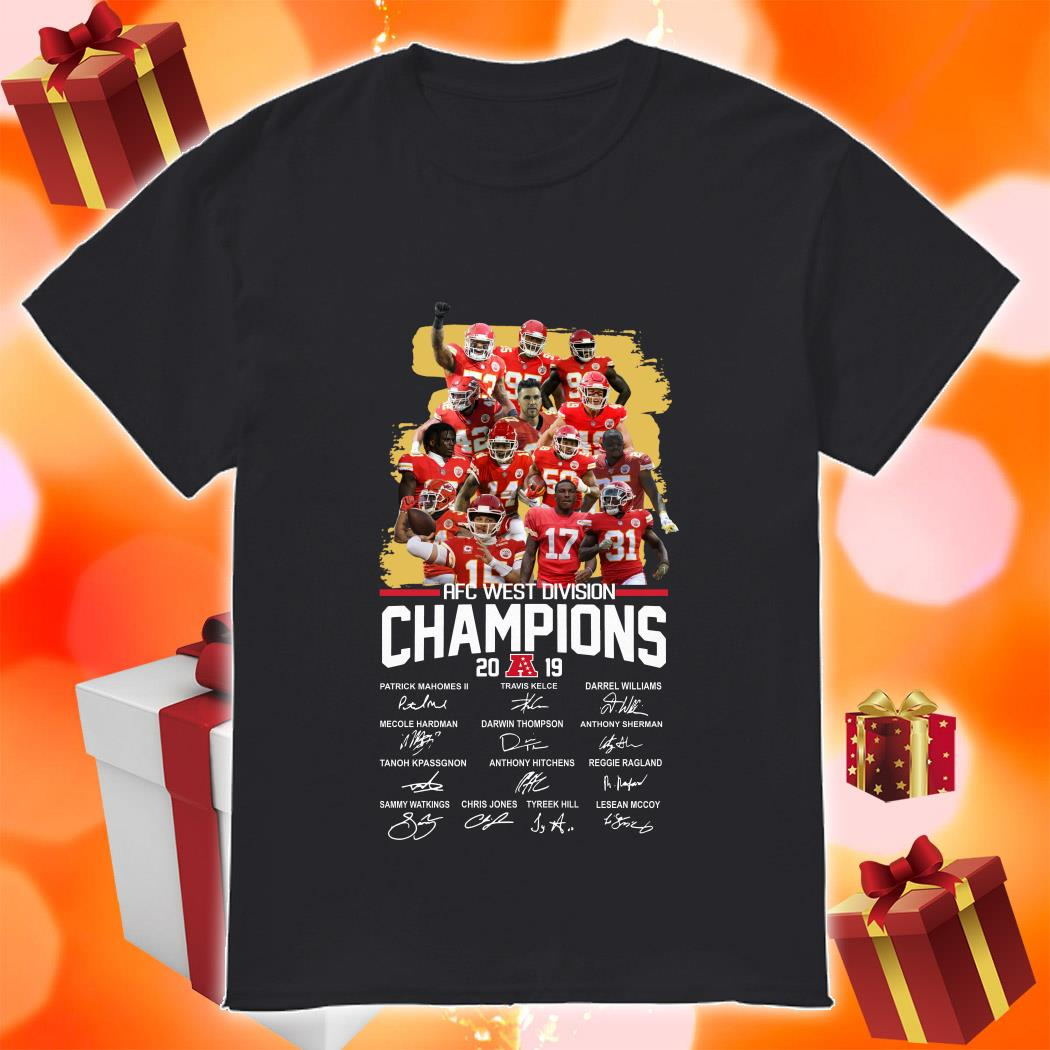 American Football Conference AFC West Division Champions 2019 Signatures shirt