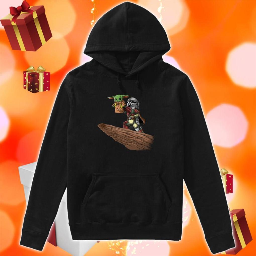 Baby Yoda and Boba Fett hoodie