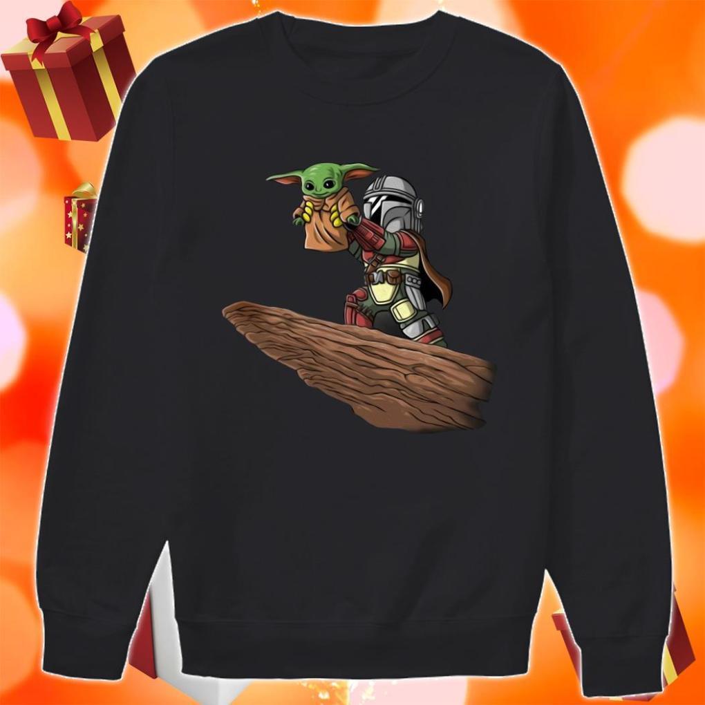 Baby Yoda and Boba Fett sweater