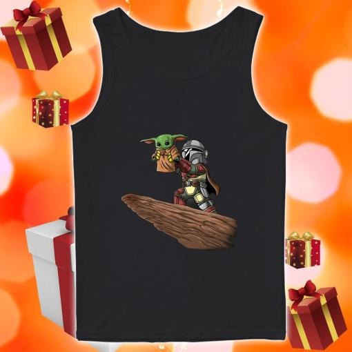 Baby Yoda and Boba Fett tank top