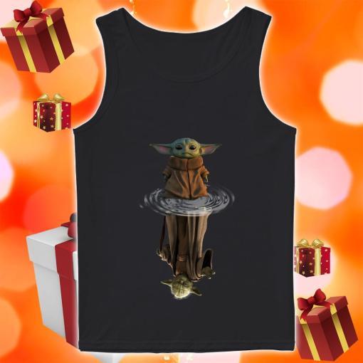 Baby Yoda and Master Yoda water reflection tank top