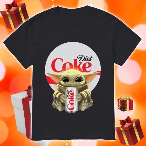 Baby Yoda hug Diet Coke shirt
