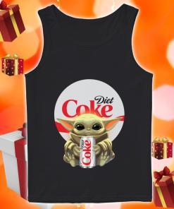 Baby Yoda hug Diet Coke tank top