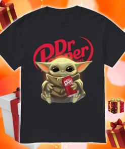 Baby Yoda hug Dr Pepper shirt