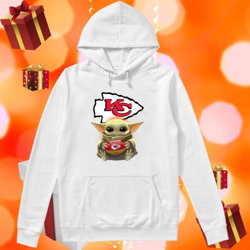Baby Yoda Hug Kansas City Chiefs hoodie