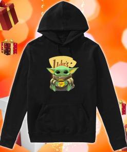 Baby Yoda hug Luke's Coffee hoodie