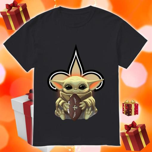 Baby Yoda Hug New Orleans Saints Shirt