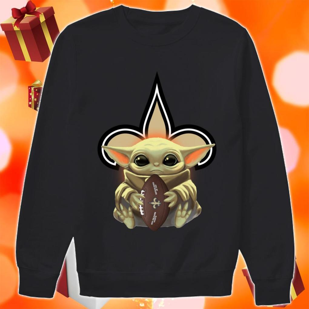 Baby Yoda Hug New Orleans Saints sweater