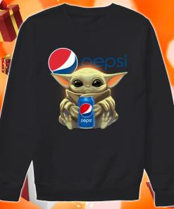 Baby Yoda hug Pepsi sweater