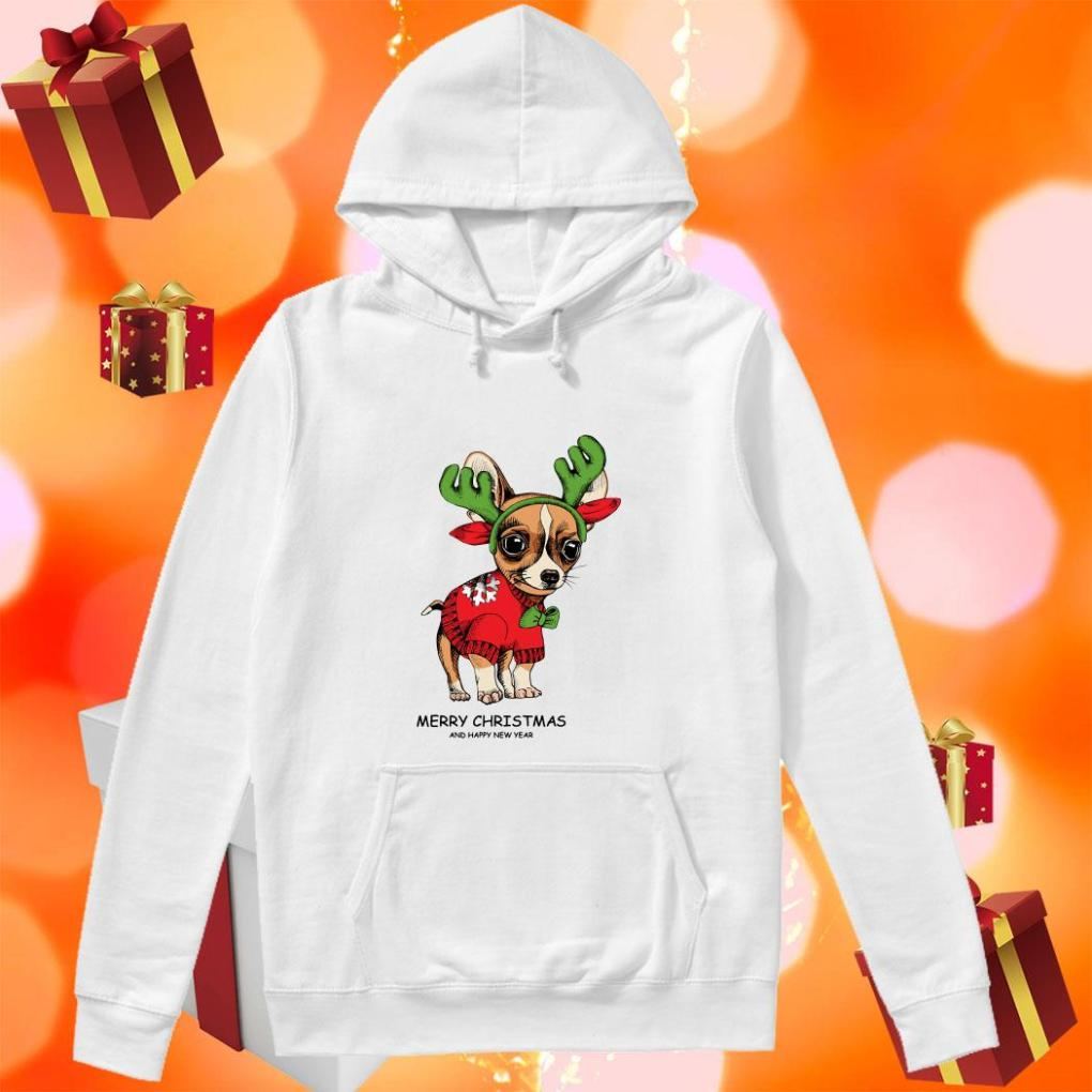 Chihuahua Reindeer Merry Christmas and Happy New Year hoodie