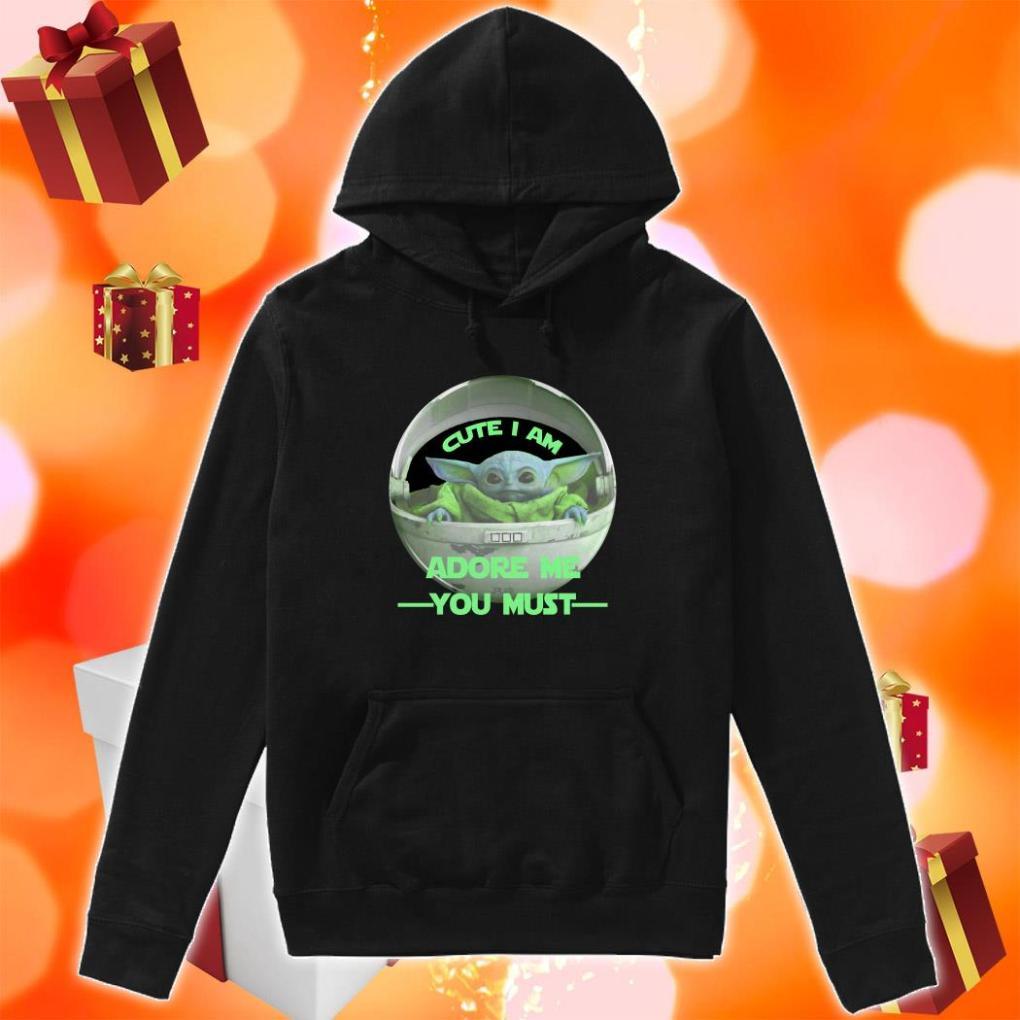 Cute I am Baby Yoda adore me you must hoodie