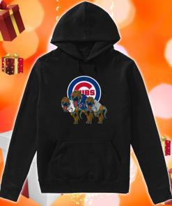 Dinosaur T-Rex Chicago Cubs Women's hoodie
