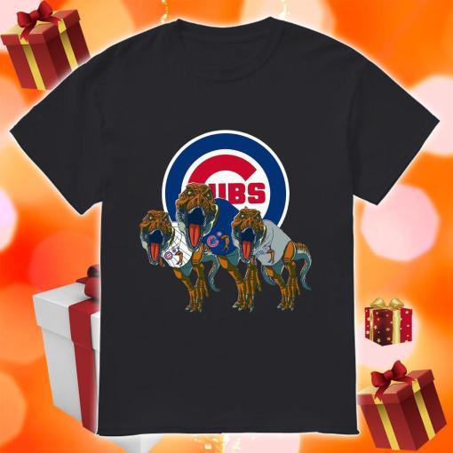 Dinosaur T-Rex Chicago Cubs Women's Shirt