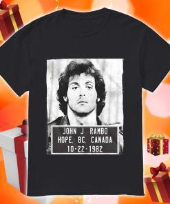 John J Rambo Hope Canada Mugshot Shirt