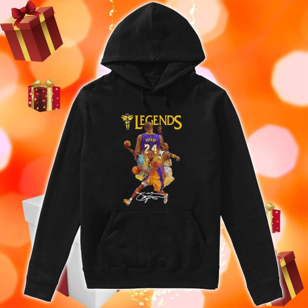 Kobe Bryant 24 Los Angeles Lakers Legends signature hoodie