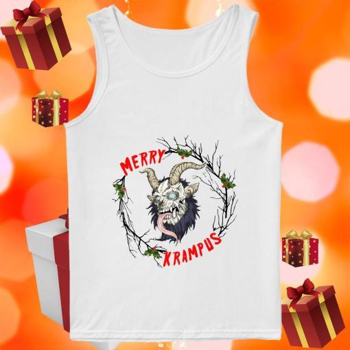 Merry Krampus Merry Christmas tank top