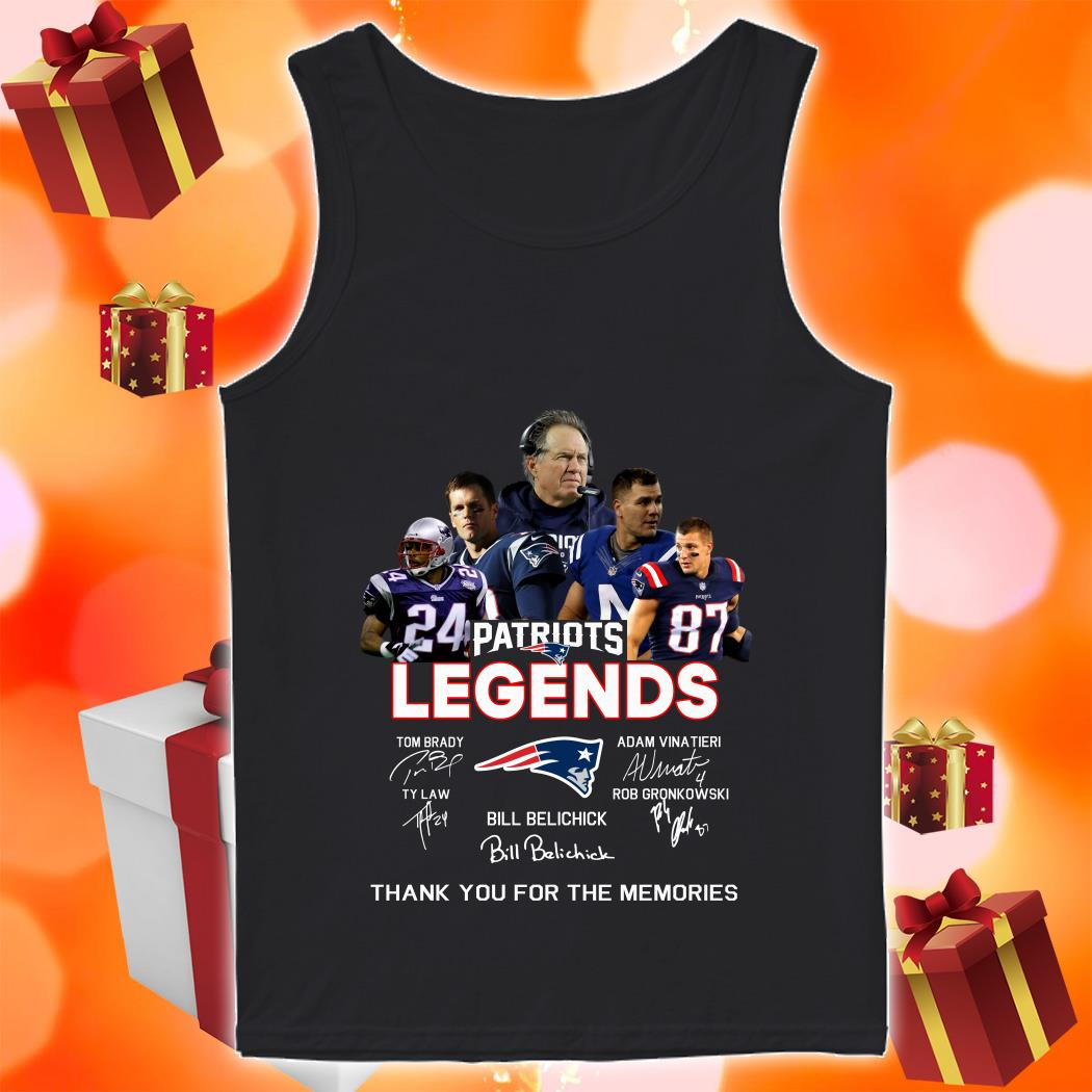 New England Patriots Legends Thank you for the memories tank top