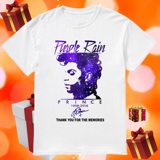 Purple rain Prince 1958 2016 thank you signature shirt