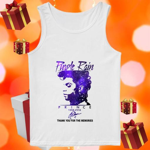 Purple rain Prince 1958 2016 thank you signature tank top