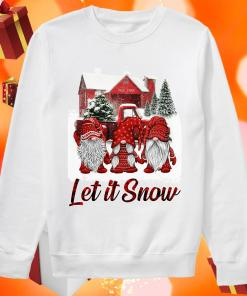 Red Gnomies Let it snow Christmas sweater