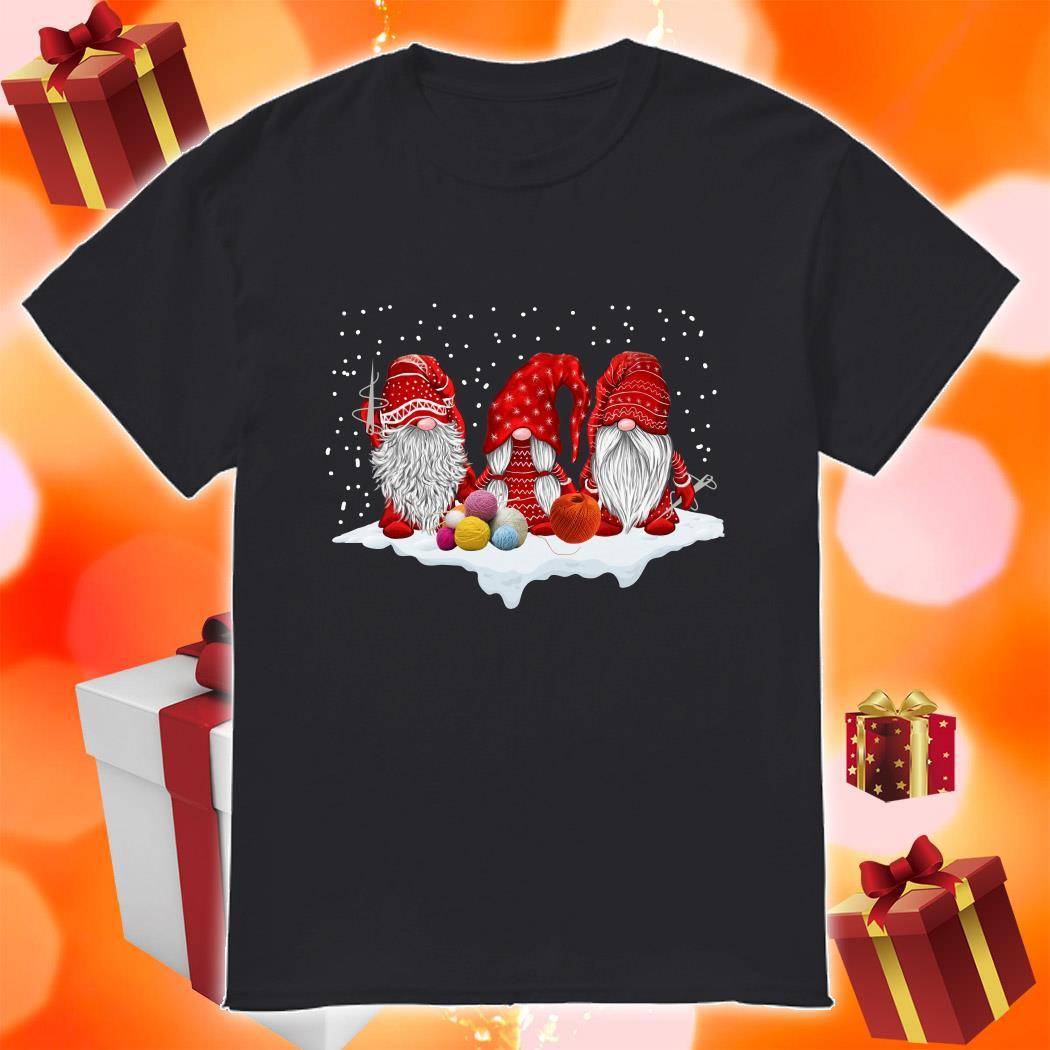 Red Gnomies Yarn Merry Christmas shirt