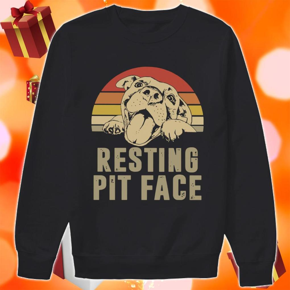 Resting pit face vintage sweater