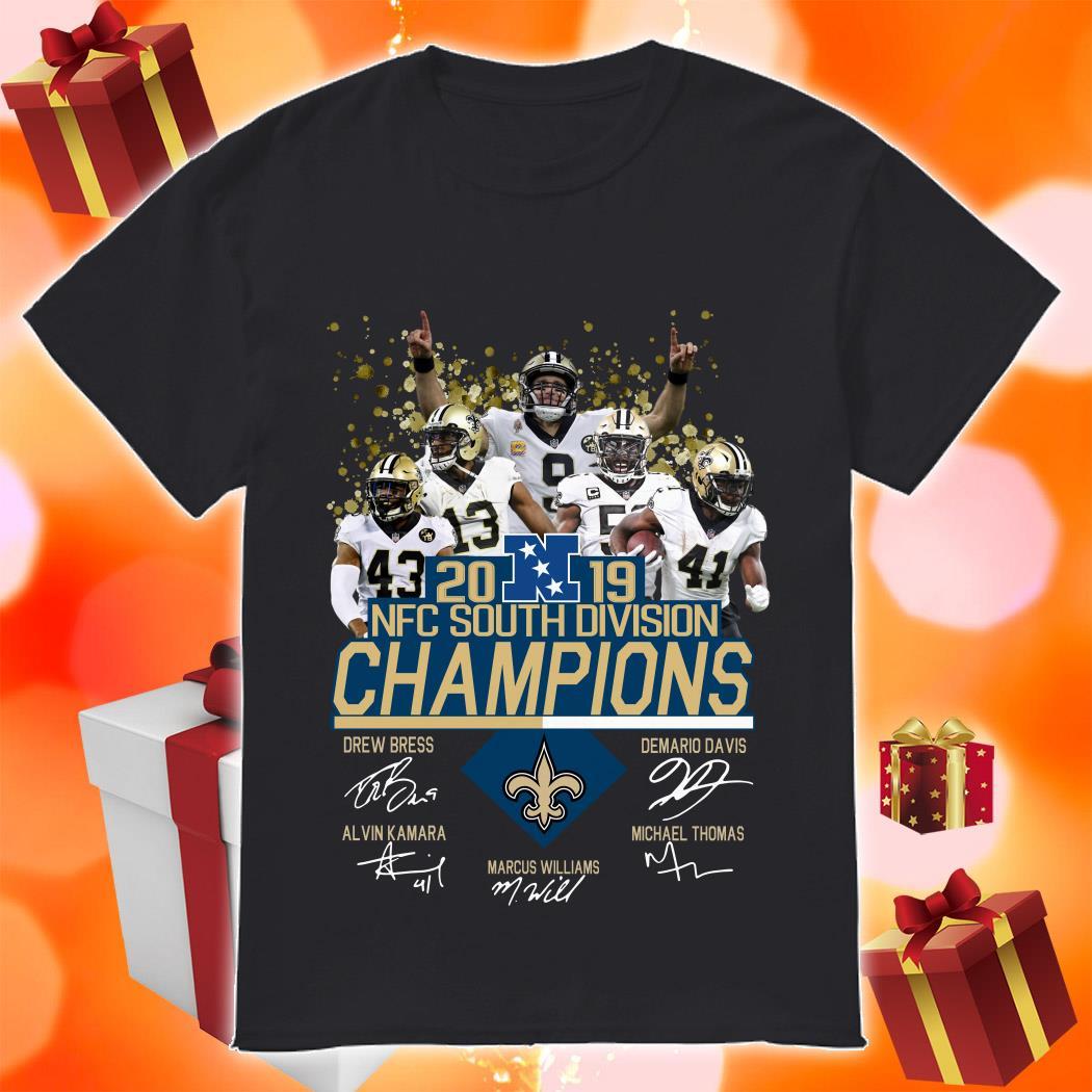 Saints New Orleans 2019 NFC South Division Champions Signature shirt