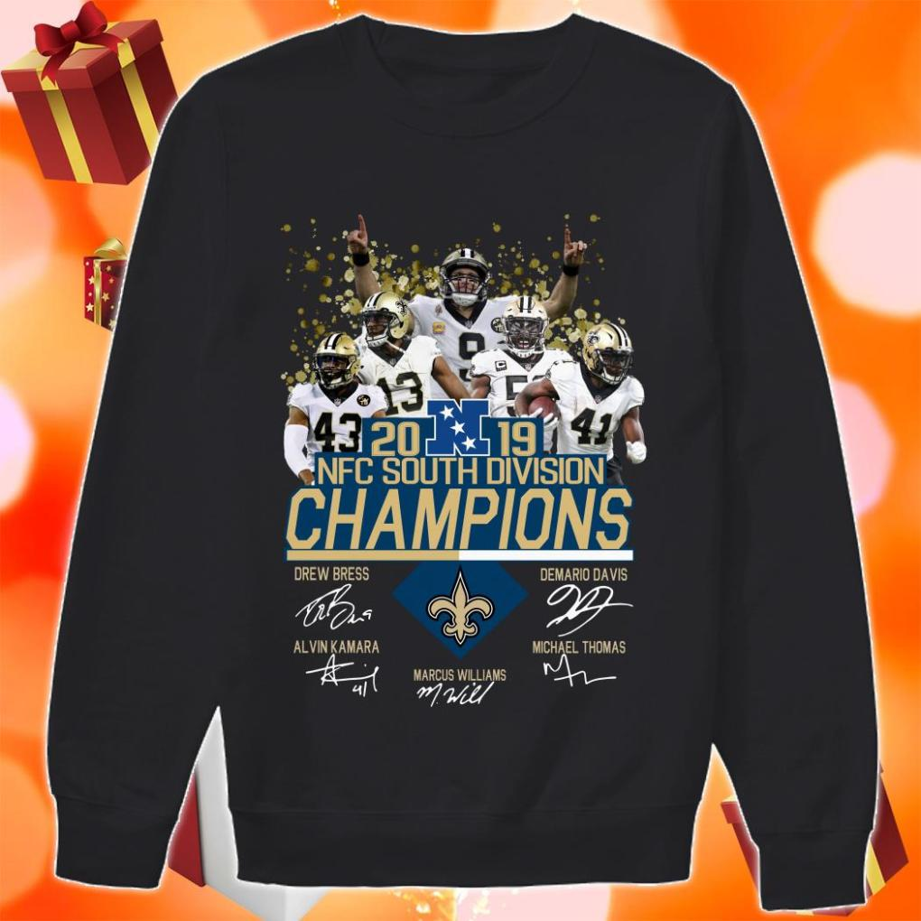 Saints New Orleans 2019 NFC South Division Champions Signature sweater