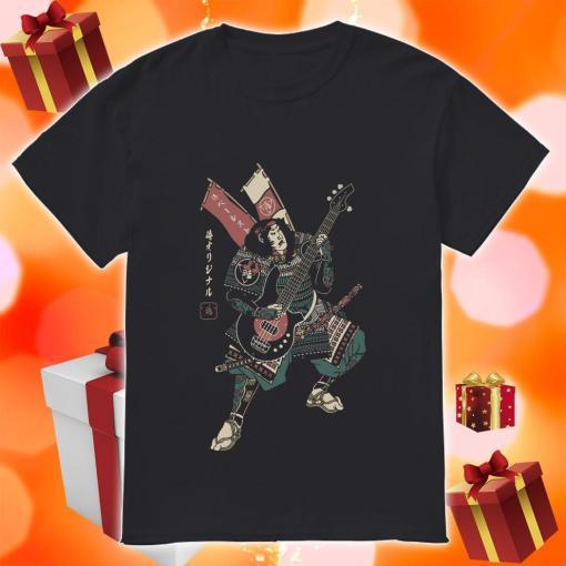 Samurai guitarist shirt