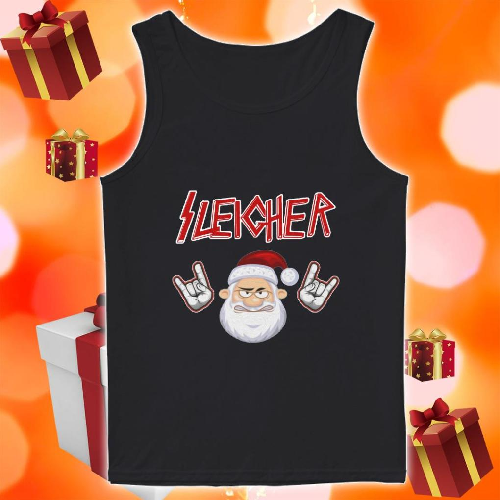 Sleigher Santa Claus Rock n' Roll tank top