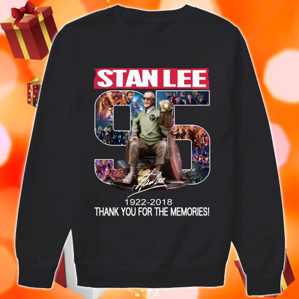 Stan Lee 95 years 1922 2018 thank you sweater
