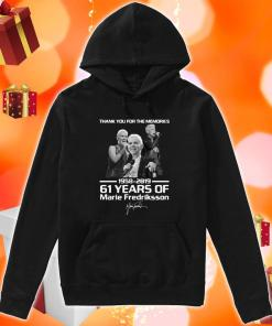 Thank you for the memories 1958 2019 61 years of Marie Fredriksson hoodie