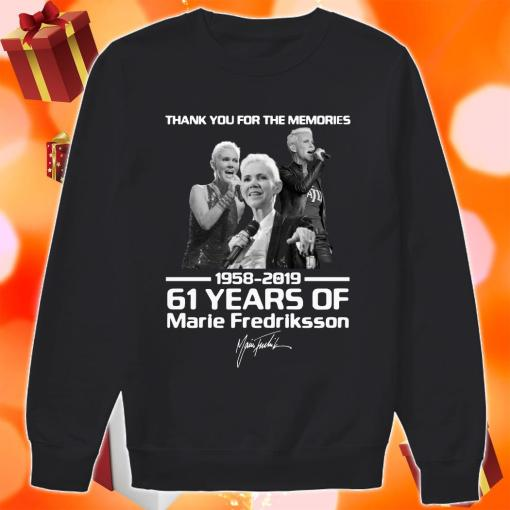 Thank you for the memories 1958 2019 61 years of Marie Fredriksson sweater