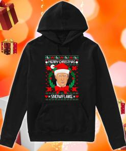 Trump Santa Merry Christmas snowflake ugly Christmas hoodie
