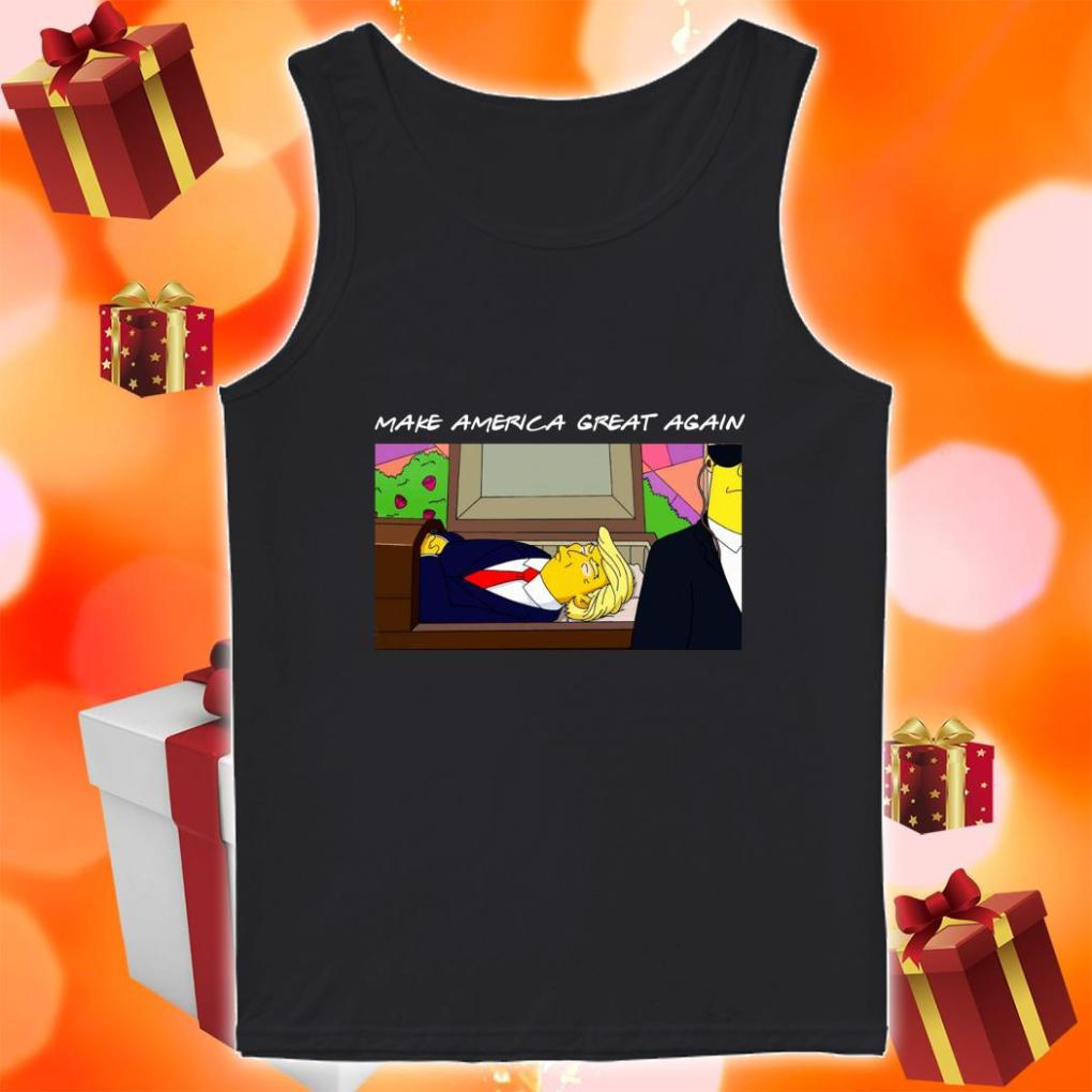 TRUMP SIMPSONS Make America Great again tank top