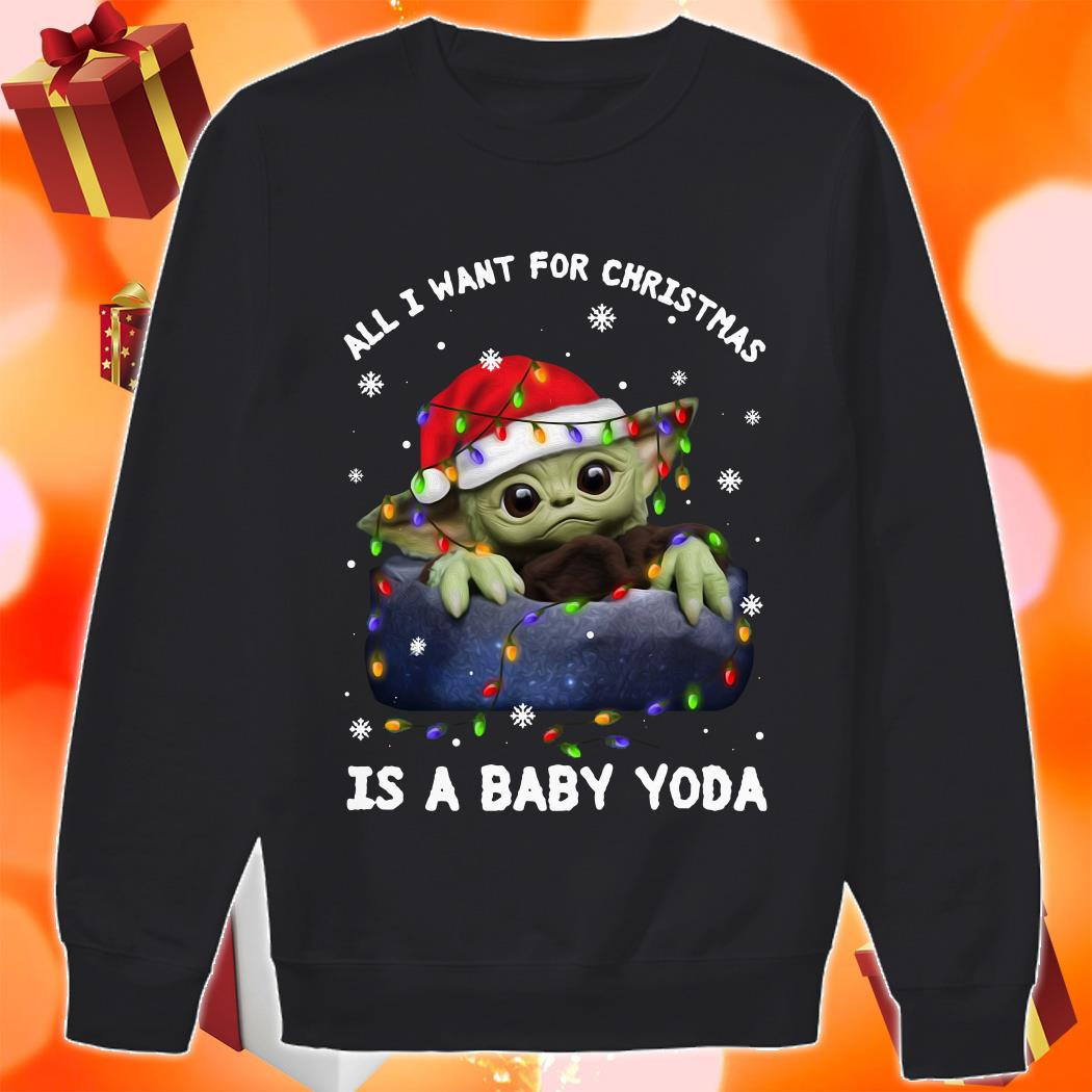 All I want for Christmas is a baby Yoda shirt 1 Picturestees Clothing - T Shirt Printing on Demand